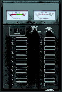Newmar DC Power Onboard Marine Electrical Control Panel, Elite Series, model ES-1