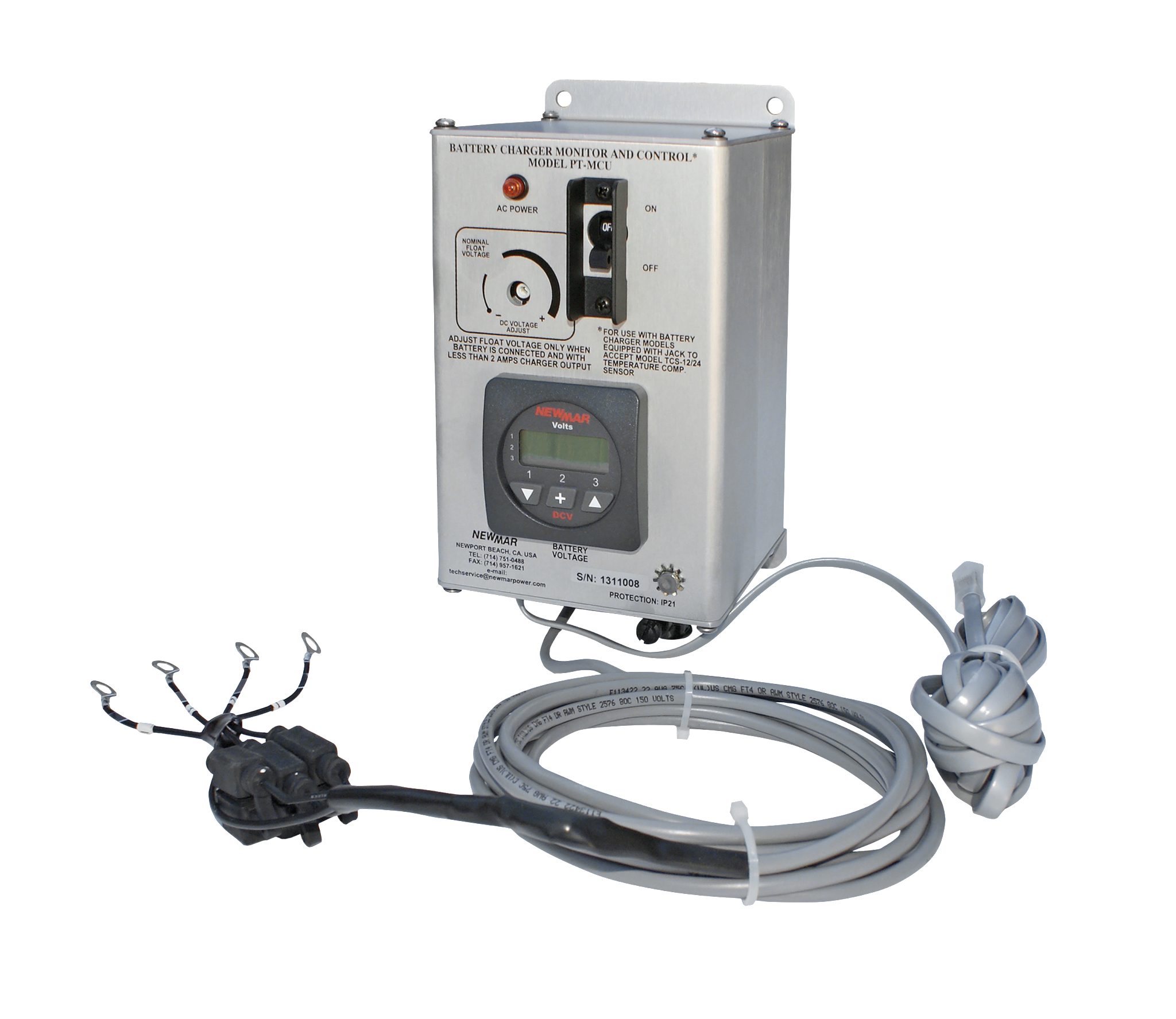 Newmar DC Power Onboard Phase Three Monitor and Control Unit for Marine Applications