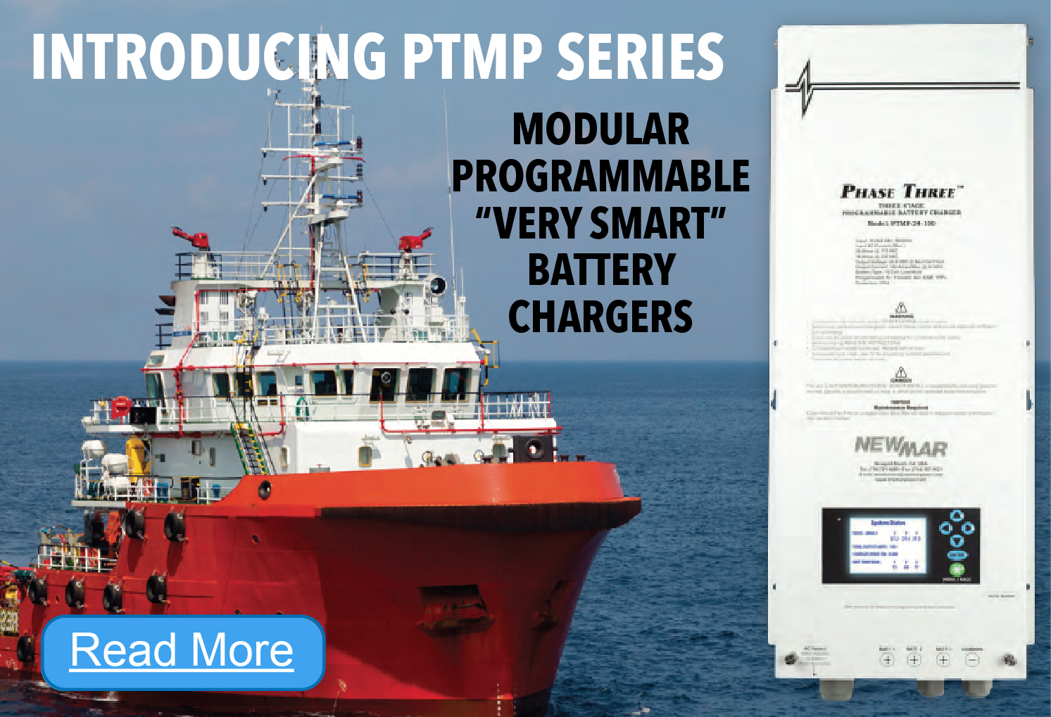 New Product Spotlight: Phase Three Modular & Programmable Battery Charger, 24V DC, 100 - 150 Amps