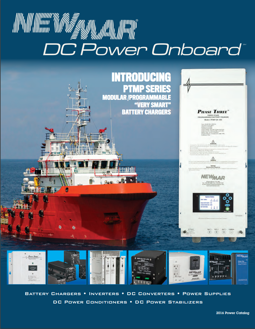 Newmar's DC Power Product Catalog Cover