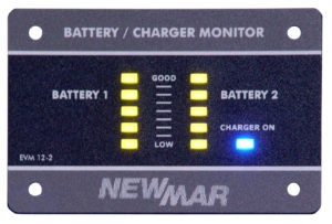 Emergency Vehicle Monitor, 12V DC, 2 battery bank monitor by Newmar